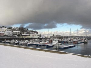 Boats in Marina at Winter
